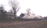 Amtrak #52 passes the Exchange Hotel at Gordonsville, VA